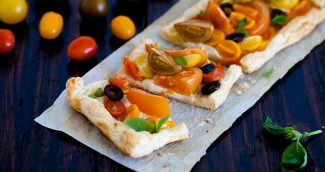 Tartaleta de tomates y queso de cabra