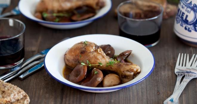 Receta de pollo con níscalos